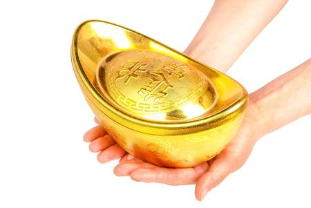 Gold ingot Stock Photo - 14103244