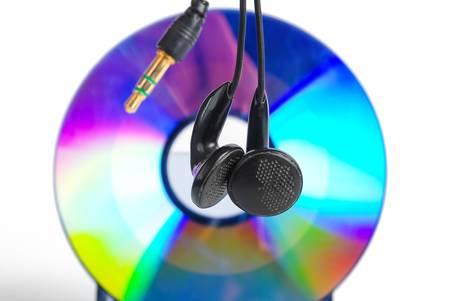 Earphone and DVD photo