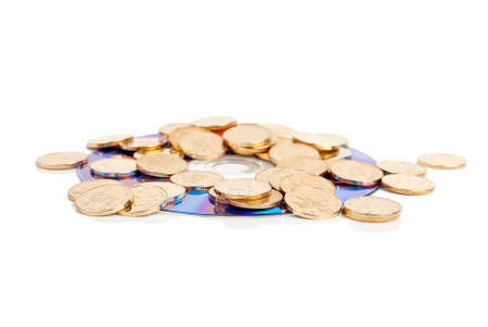 Coin and DVD Stock Photo - 14115373