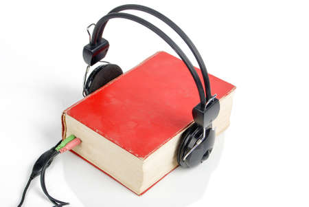 Earphone with book Stock Photo - 14117723