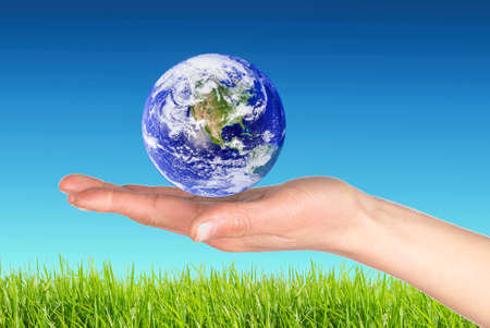 world at your fingertips: Earth in hand