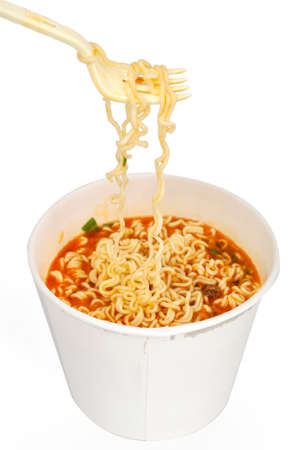egg noodles: Instant noodles