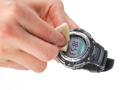 Cleaning watch photo