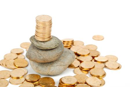 Coin on stone Stock Photo - 14153481