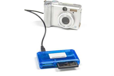 Card reader and digital camera Stock Photo - 14152763