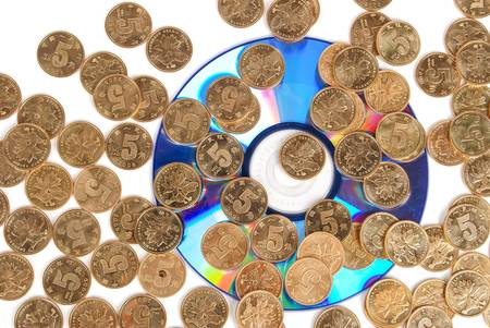 Coin with DVD photo