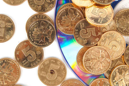 Coin with DVD Stock Photo - 14153813