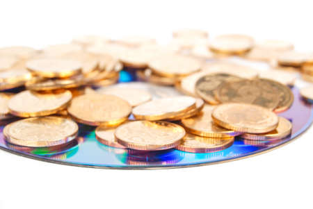 Coin with DVD Stock Photo - 14153189