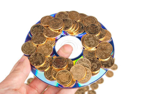 Coin with DVD Stock Photo - 14153751