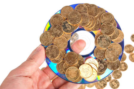 Coin with DVD Stock Photo - 14153793