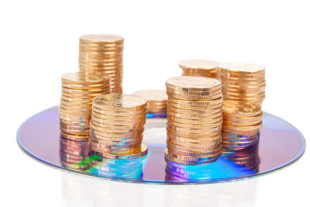 Coin with DVD Stock Photo - 14153505