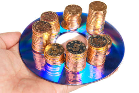Coin with DVD Stock Photo - 14153683
