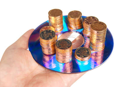Coin with DVD Stock Photo - 14153605