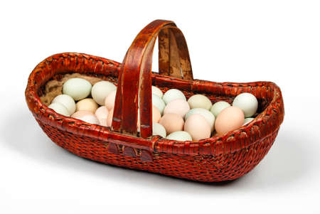 Eggs in basket photo