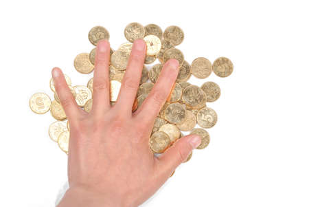 Coin and hand Stock Photo - 14154082