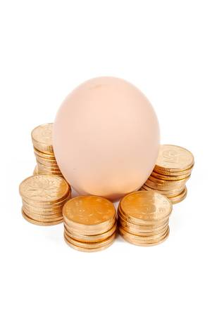 Egg and coin photo