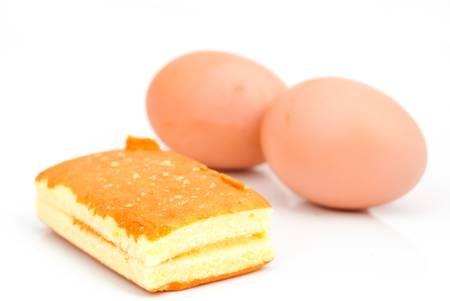 Cake and egg photo