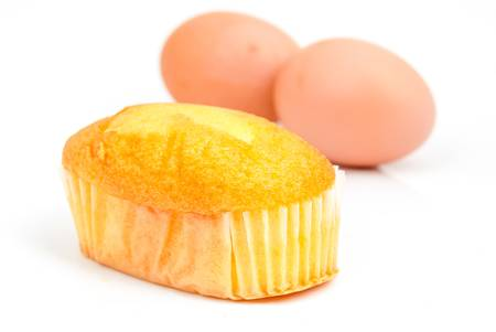 Cake and egg photo