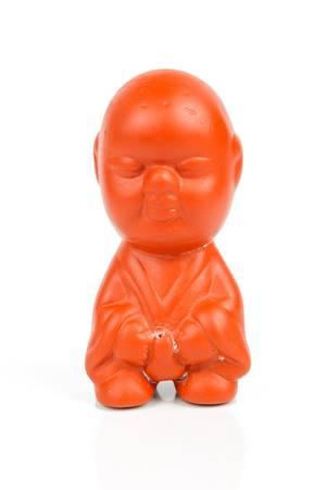 ceramicist: Kaolin doll Stock Photo