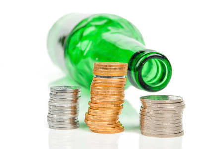 Wine and coin Stock Photo - 14314368