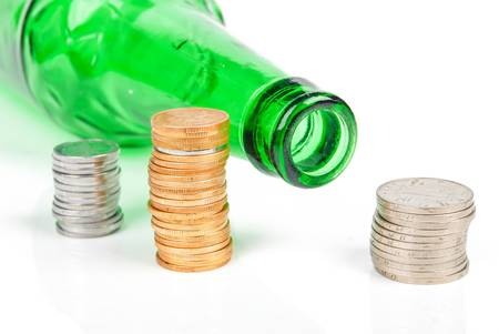 Wine and coin Stock Photo - 14313580