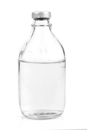 Bottle with saline photo