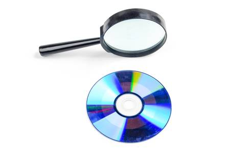 Magnifier and DVD Stock Photo - 17226687