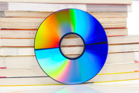 word processor: DVD and book Stock Photo