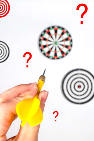 Dart and dartboard Stock Photo