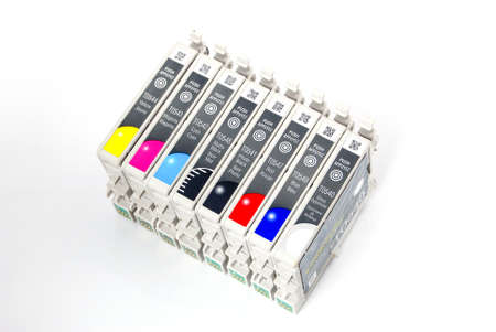 inkjet: Cartucho de inyecci�n de tinta Foto de archivo