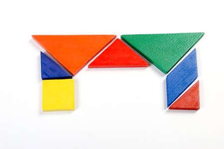 jigsaw tangram: Puzzle Stock Photo