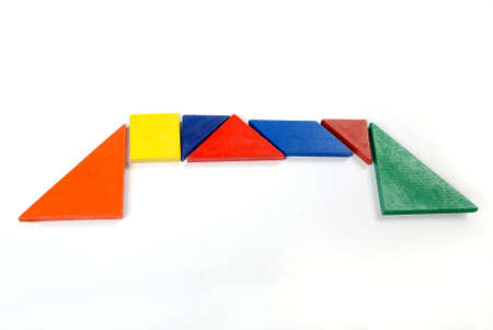 color tangram: Puzzle Stock Photo