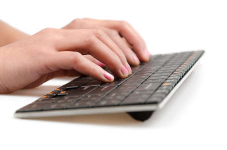 Typing on a Computer Keyboard photo