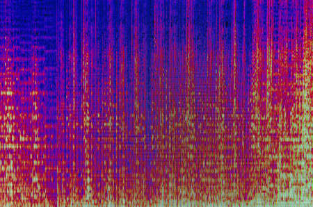 Sound waveform photo