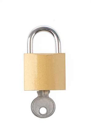 Padlock with key Stock Photo - 16846593