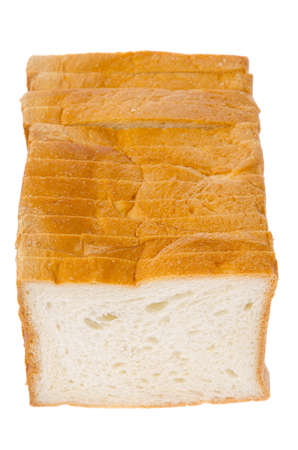 Bread isolated on white background photo