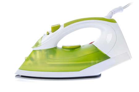 lavando ropa: Herramienta de planchado en el fondo blanco