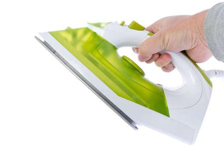 Ironing tool on white background photo
