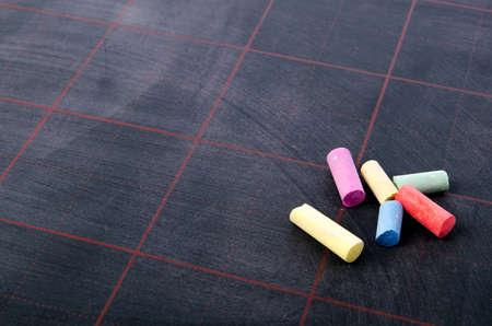 Blackboard and chalks Stock Photo - 17492368