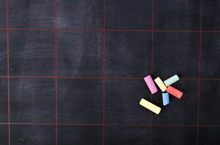 Blackboard and chalks Stock Photo - 17492359