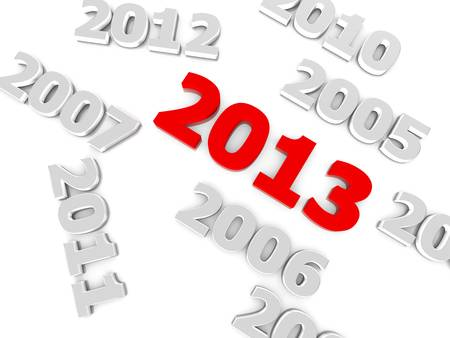 New year 2013 and the old years photo