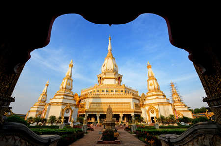 the temple   thai wat in thailand  photo