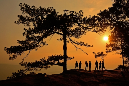 kradueng: Sunrise at Phu Kradueng National Park of thailand
