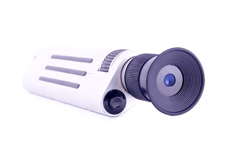 bullet camera: a special scope for fiber optic work Stock Photo