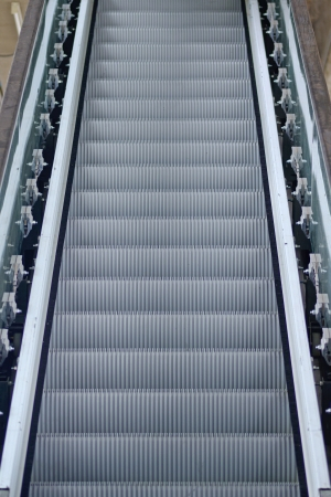 a clostup  new Escalator from bangkok thailand photo