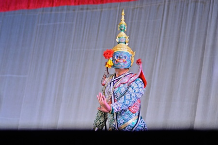 Pantomime show on stage from bangkok thailnad photo