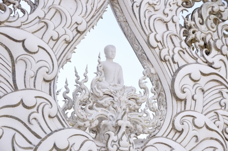 temple or Wat Rong Khun Chiangrai  Thailand photo