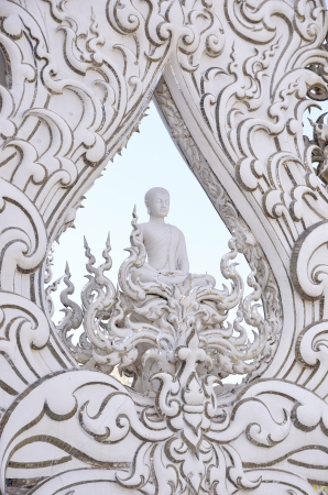 veneration: temple or Wat Rong Khun Chiangrai  Thailand