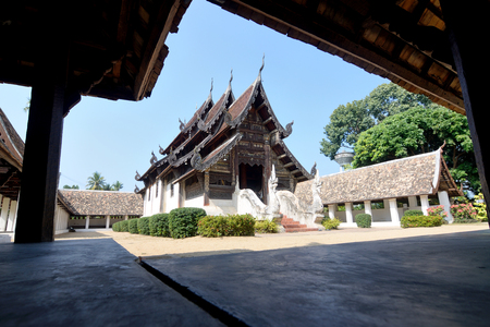 Old temple in thailand photo