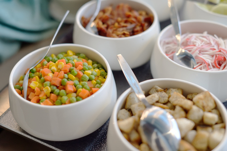 desired: Salad buffet. The people themselves impose the desired treat
